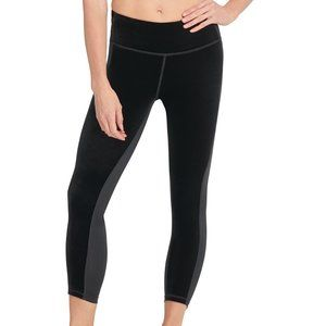 Dkny Sport Velvet Colorblocked High-Waist Leggings